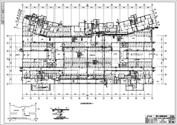 武汉某小区高层住宅给排水系统图平面图-图一