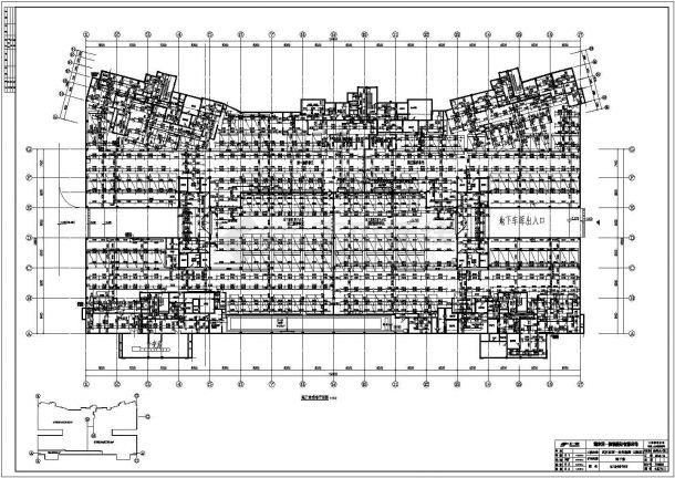 武汉某小区高层住宅给排水系统图平面图-图二