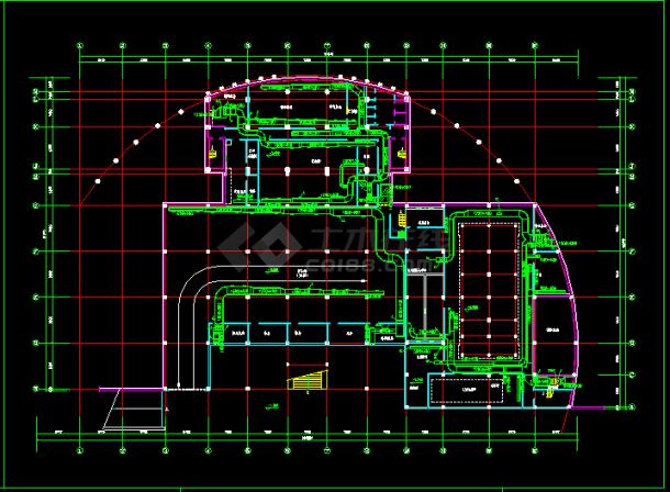 某住宅地下室中央空调全套cad施工图纸-图二