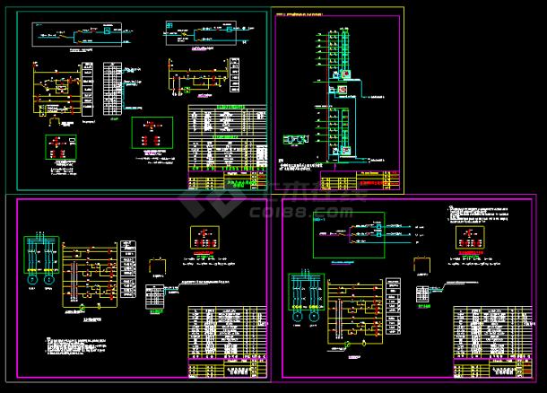 高层住宅楼通风管道电气88必发手机版登录cad控制图-图一