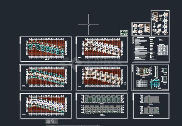 某地区C型联排别墅方案设计cad施工图-图一