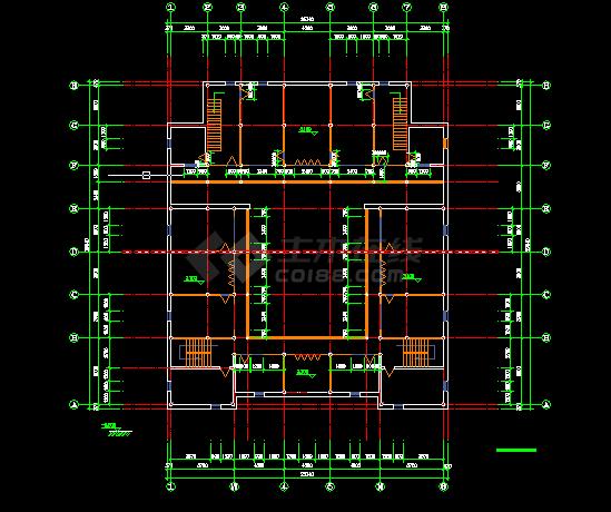某仿古建筑施工与设计全套CAD图纸-图二
