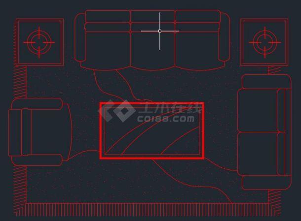 某地区室内装修设计图设计cad图例-图二