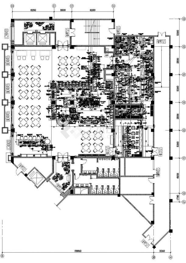 某地下一层厨房电气设计图-图一