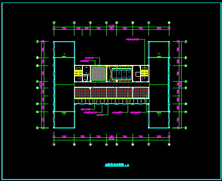 某高层建筑cad设计室内装修图纸-图二