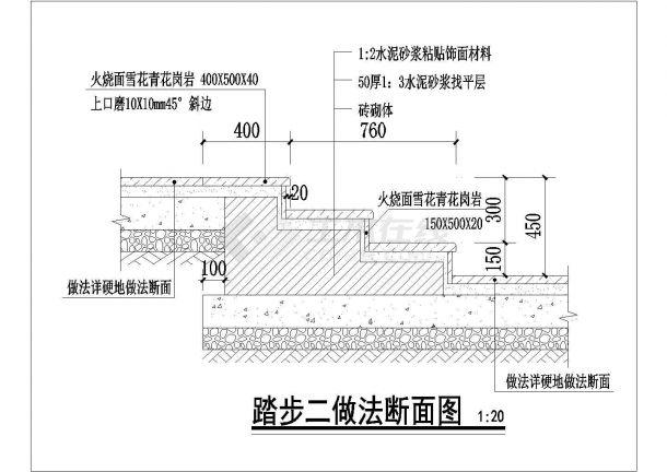 云南省某居住小区全套园林绿化施工图-图一