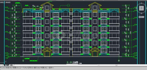 某地区教育小区住宅建筑设计CAD施工图纸-图二