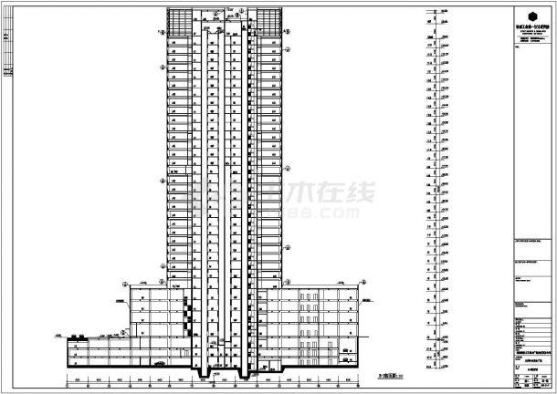 【广东】三十三层框筒结构写字楼全套建筑施工图-图一