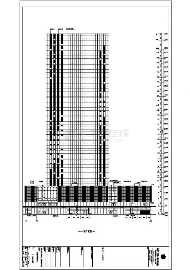【广东】三十三层框筒结构写字楼全套建筑施工图-图二