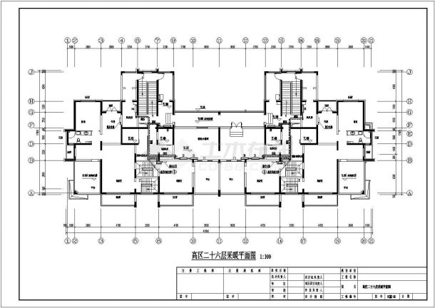 黑龙江省某县高层地板辐射及散热器采暖施工图-图一