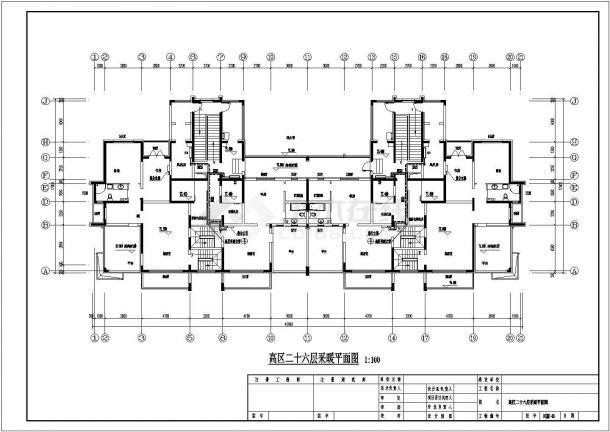 黑龙江省某县高层地板辐射及散热器采暖施工图-图二