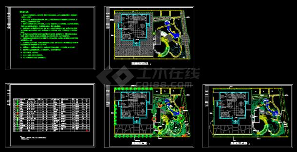 某高级别墅景观绿化CAD建筑设计施工图纸-图一