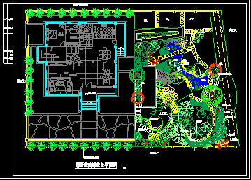 某高级别墅景观绿化CAD建筑设计施工图纸-图二