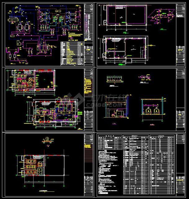 某住宅小区供热锅炉房建筑cad设计施工图纸(含设计说明)-图一
