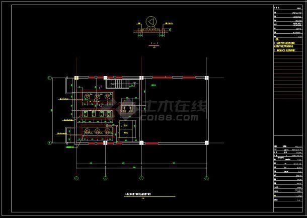 某住宅小区供热锅炉房建筑cad设计施工图纸(含设计说明)-图二