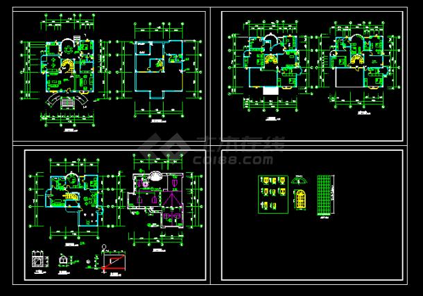 某中式别墅装修方案cad平面设计施工图-图一