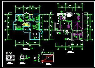 某中式别墅装修方案cad平面设计施工图-图二