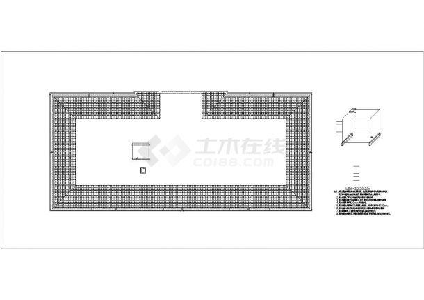 某学校综合楼屋顶消防水箱详图-图二