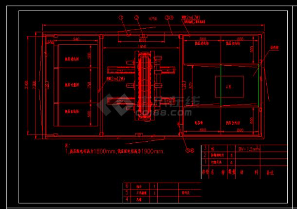 某公园灯具照明布线施工CAD详图-图二