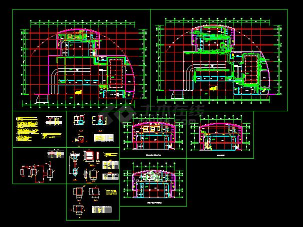 某住宅地下室中央空调全套cad平面施工图-图一