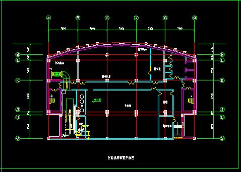 某多层住宅地下室中央空调全套cad平面施工图-图二