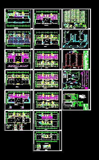 某办公楼溴化锂空调cad施工图纸-图一