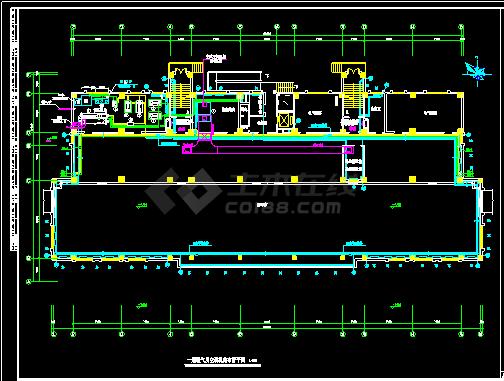 某办公楼溴化锂空调cad施工图纸-图二
