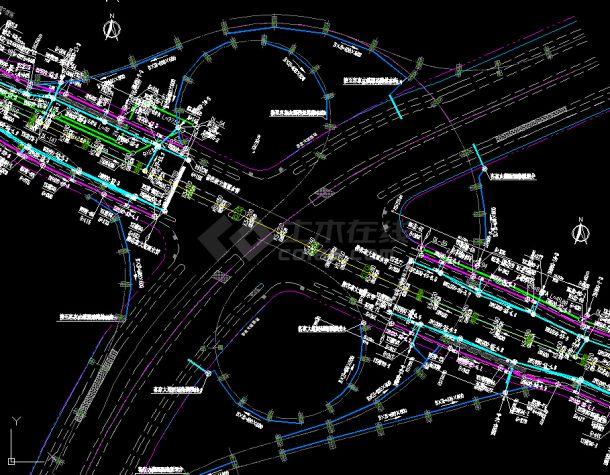 综合管线图---市政专业的相关工程资料-图一