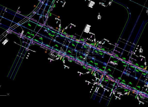 综合管线图---市政专业的相关工程资料-图二