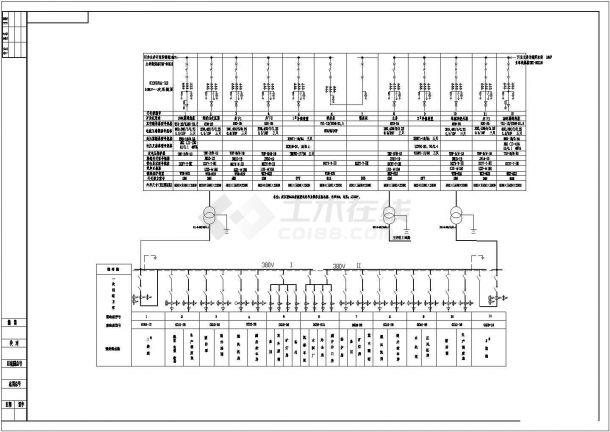 某10KV变电所供电系统图-图二