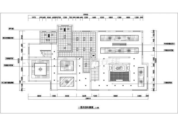 某地二层砖混结构餐厅全套装饰设计施工图-图一