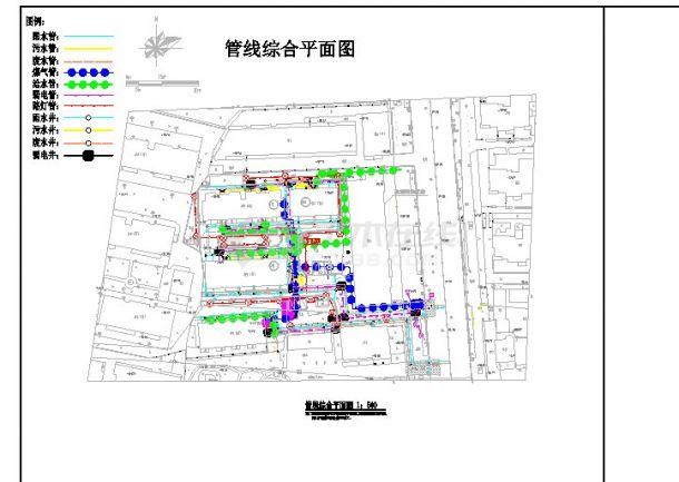 某公建室外管线综合施工图-图一