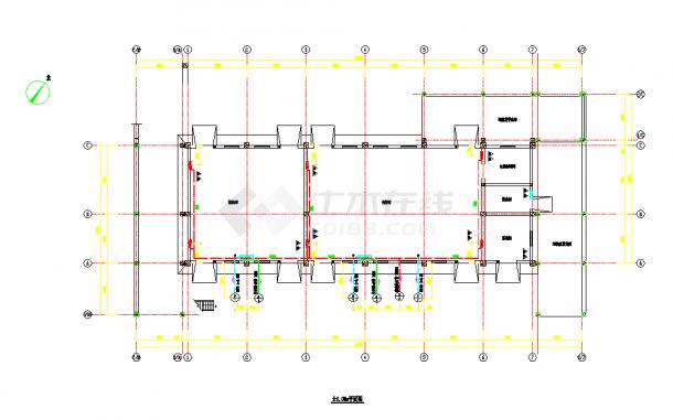 厂房室内雨淋消防给水平面图和系统图-图一
