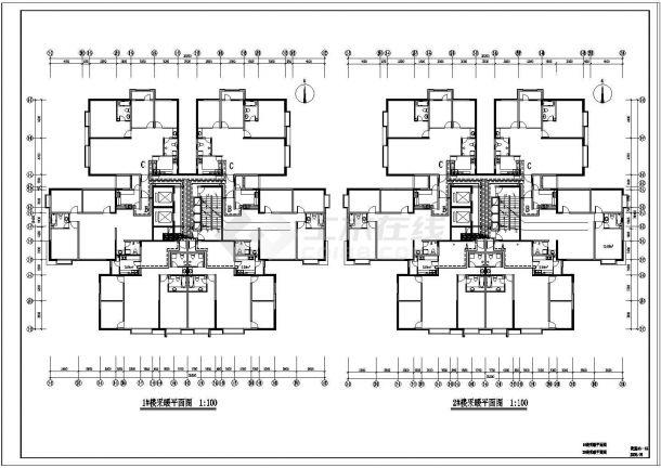 某高层住宅楼采暖防排烟设计施工图纸-图一