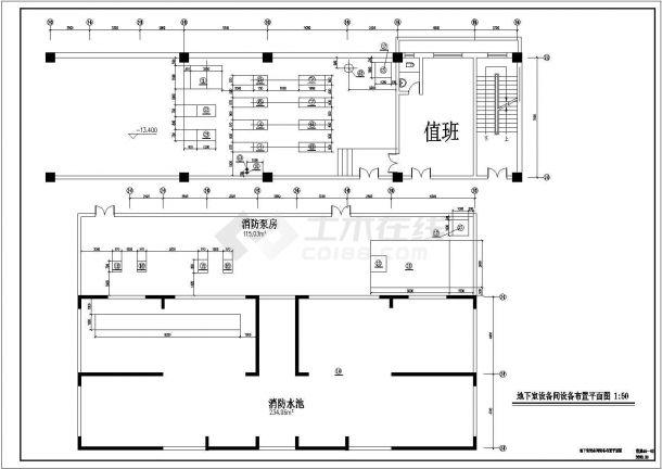 某高层住宅楼采暖防排烟设计施工图纸-图二