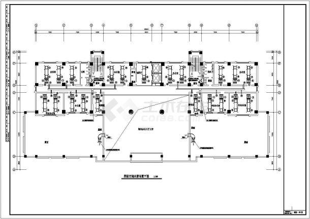 某办公楼溴化锂空调cad详细施工图纸-图二