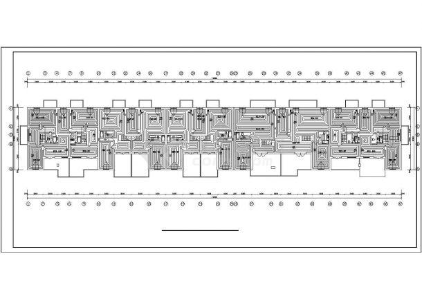 【河北】商住楼地板辐射采暖系统设计图-图一