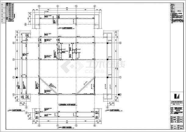 型钢混凝土结构经济学校结构施工图-图一
