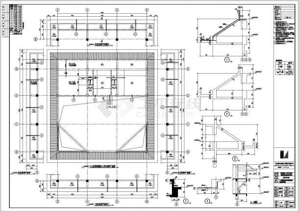 型钢混凝土结构经济学校结构施工图-图二