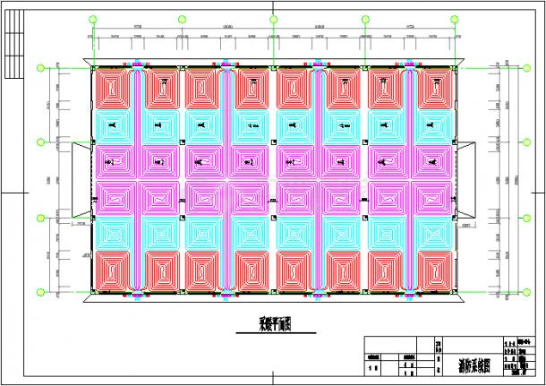 【浙江】某厂房地板辐射采暖系统设计图-图一