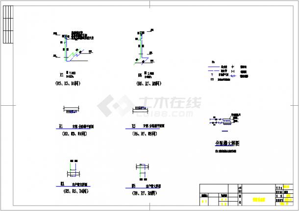 【浙江】某厂房地板辐射采暖系统设计图-图二