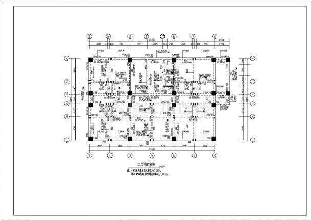 某钢筋混凝土剪力墙结构高层宾馆设计施工图-图一
