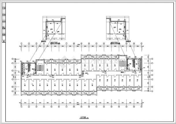 【江苏】某地六层学生宿舍给排水图-图一