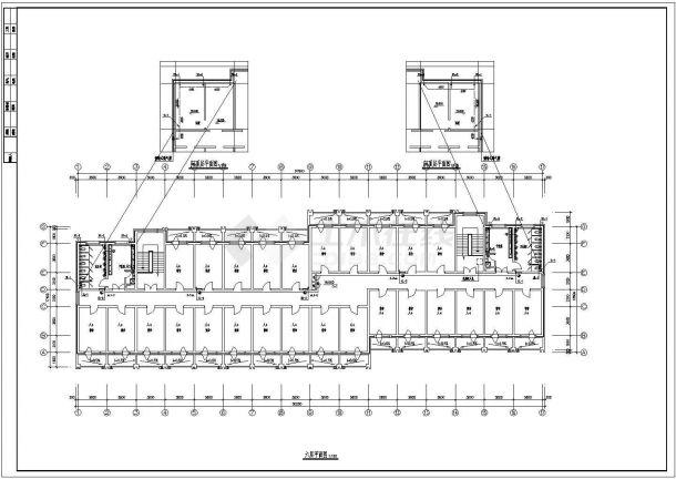 【江苏】某地六层学生宿舍给排水图-图二