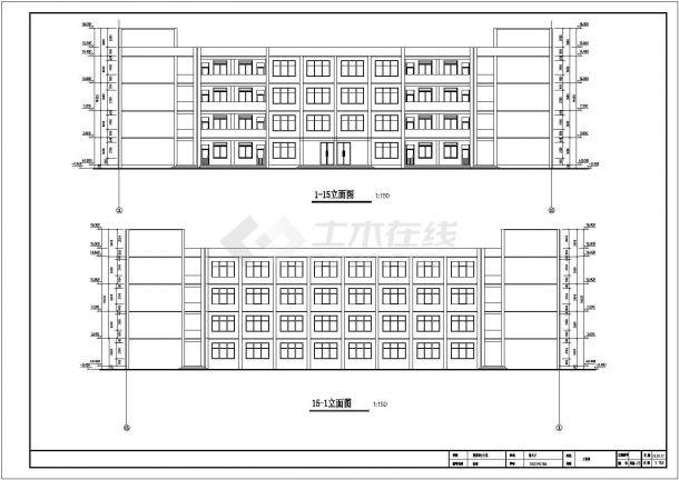 学校四层教学楼框架结构设计施工图-图一