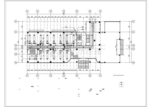 【广州】某科技大楼溴化锂空调设计图-图一