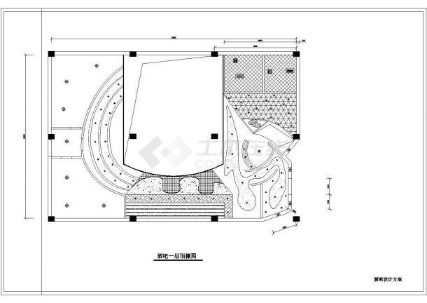 某酒吧装修设计cad方案图-图二