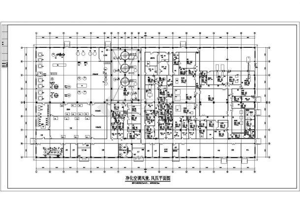 安徽某地大型药厂空调通风设计图-图一