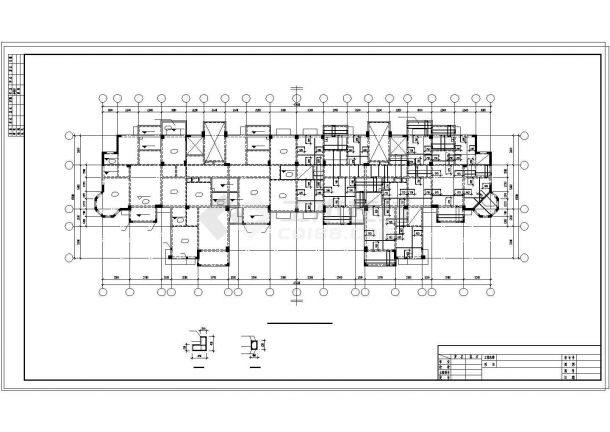 [武汉]框架剪力墙结构住宅楼结构施工图(13层预应力混凝土管桩基础)-图一