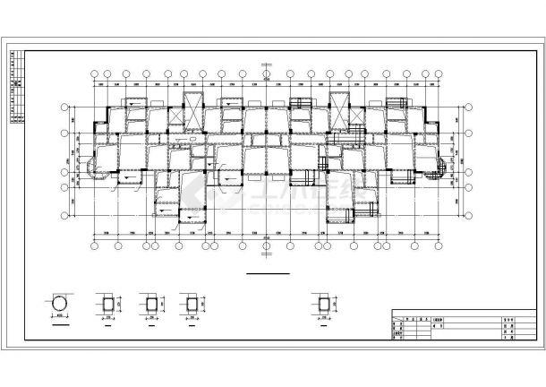 [武汉]框架剪力墙结构住宅楼结构施工图(13层预应力混凝土管桩基础)-图二